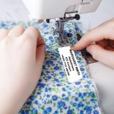 Large White Printed Sew on Name Labels