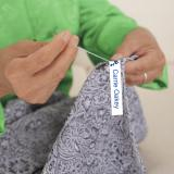Medium White Printed Sew on Name Labels