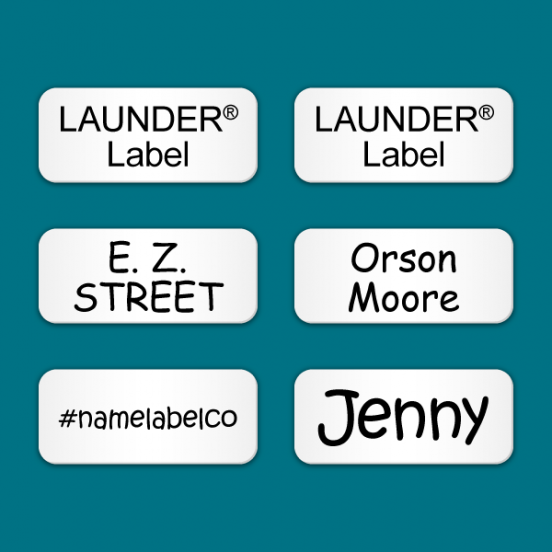 Stick on Clothing Labels White LAUNDER®
