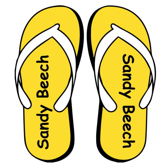 Flip Flop Shoe Labels for Kids