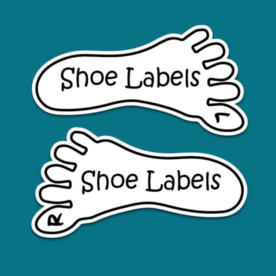 Stick on Kids Shoe Labels