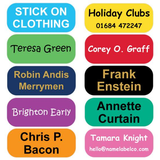 Stick on Clothing Labels  Coloured LAUNDER®