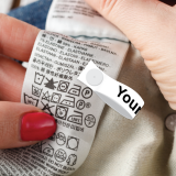 Medium White Tagg on® Printed Labels
