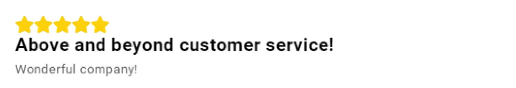 feefo review customer service feedback name label stars